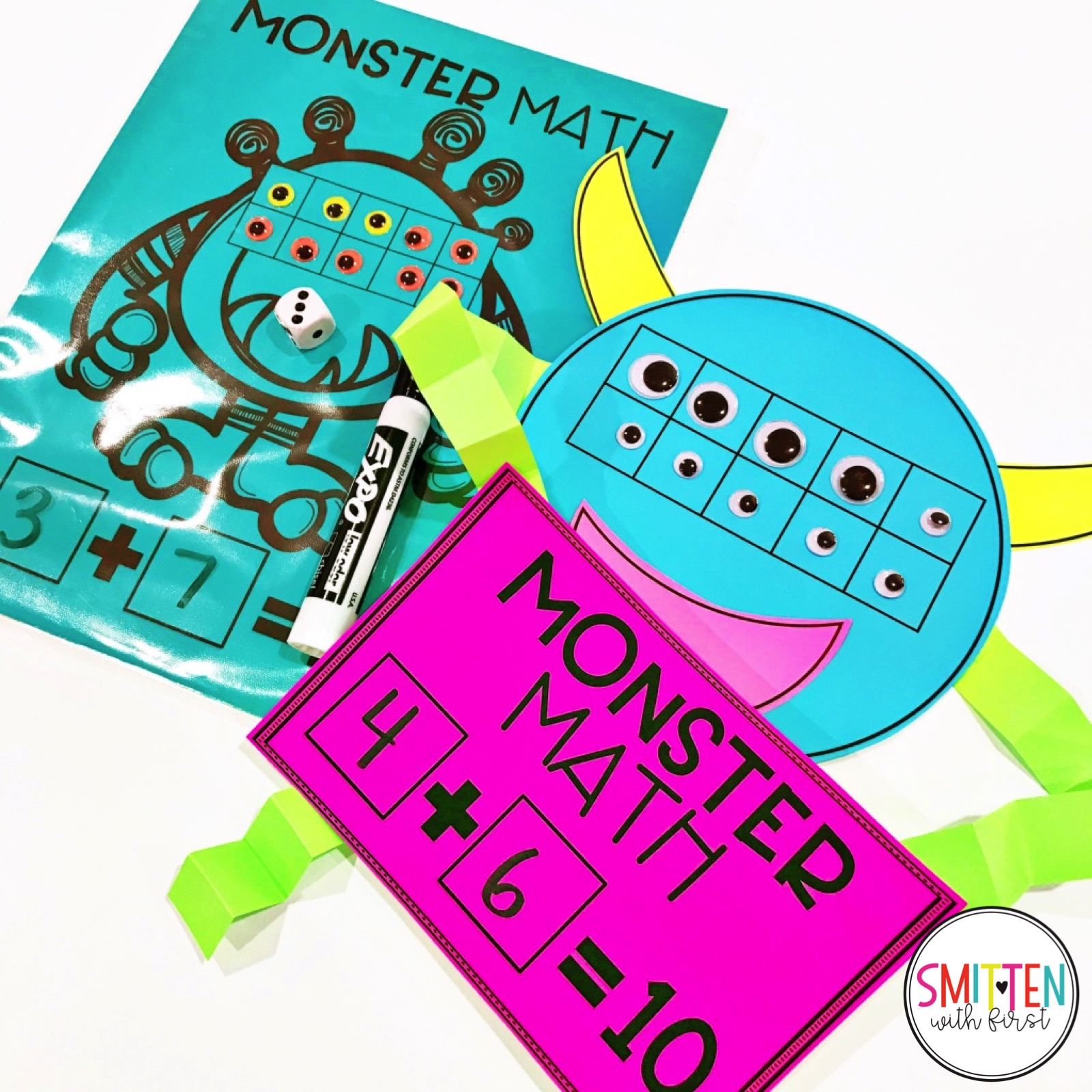 Monster Math FREEBIE for addition and subtraction