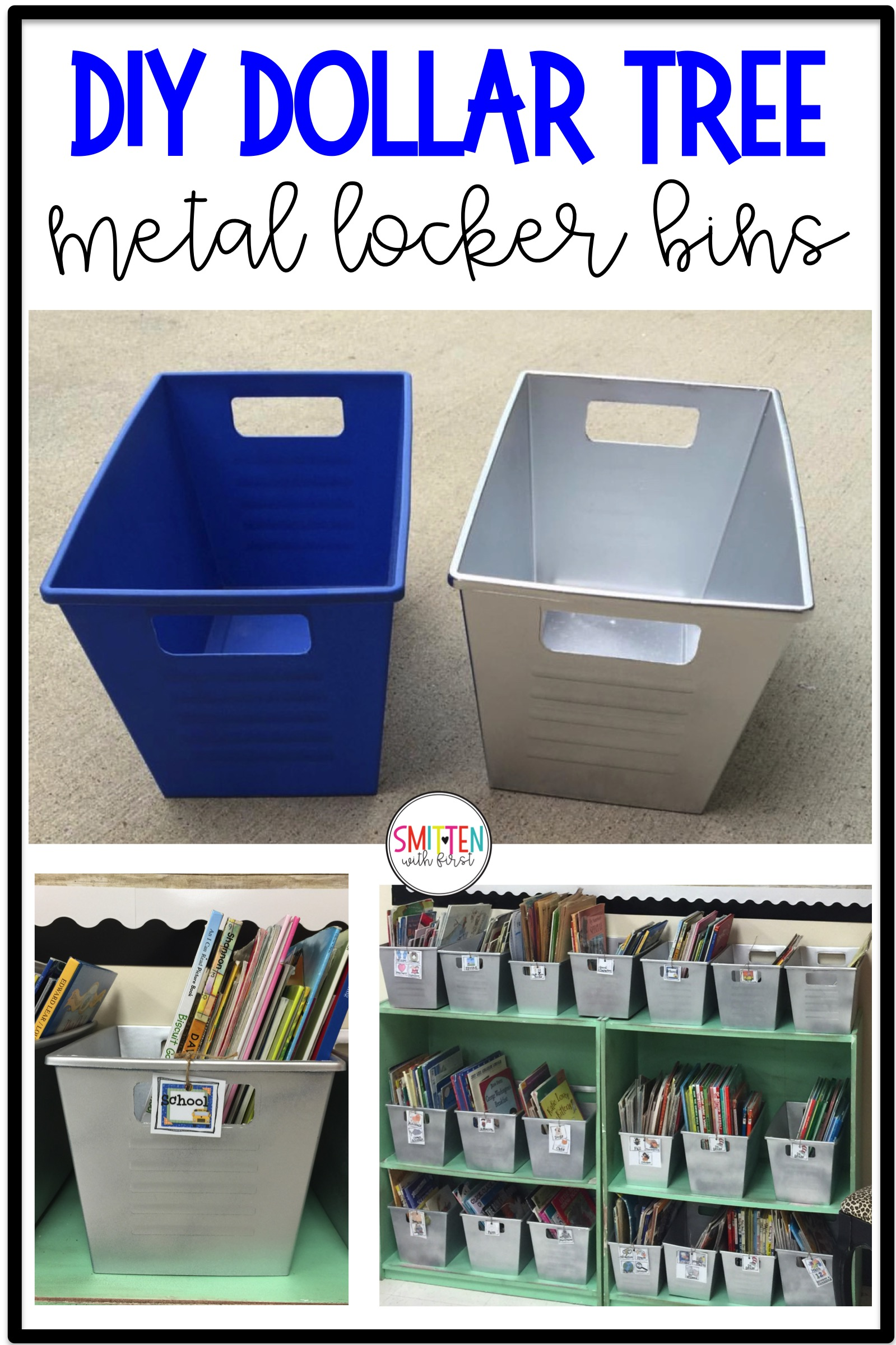 DIY Dollar Tree Metal Locker Bins