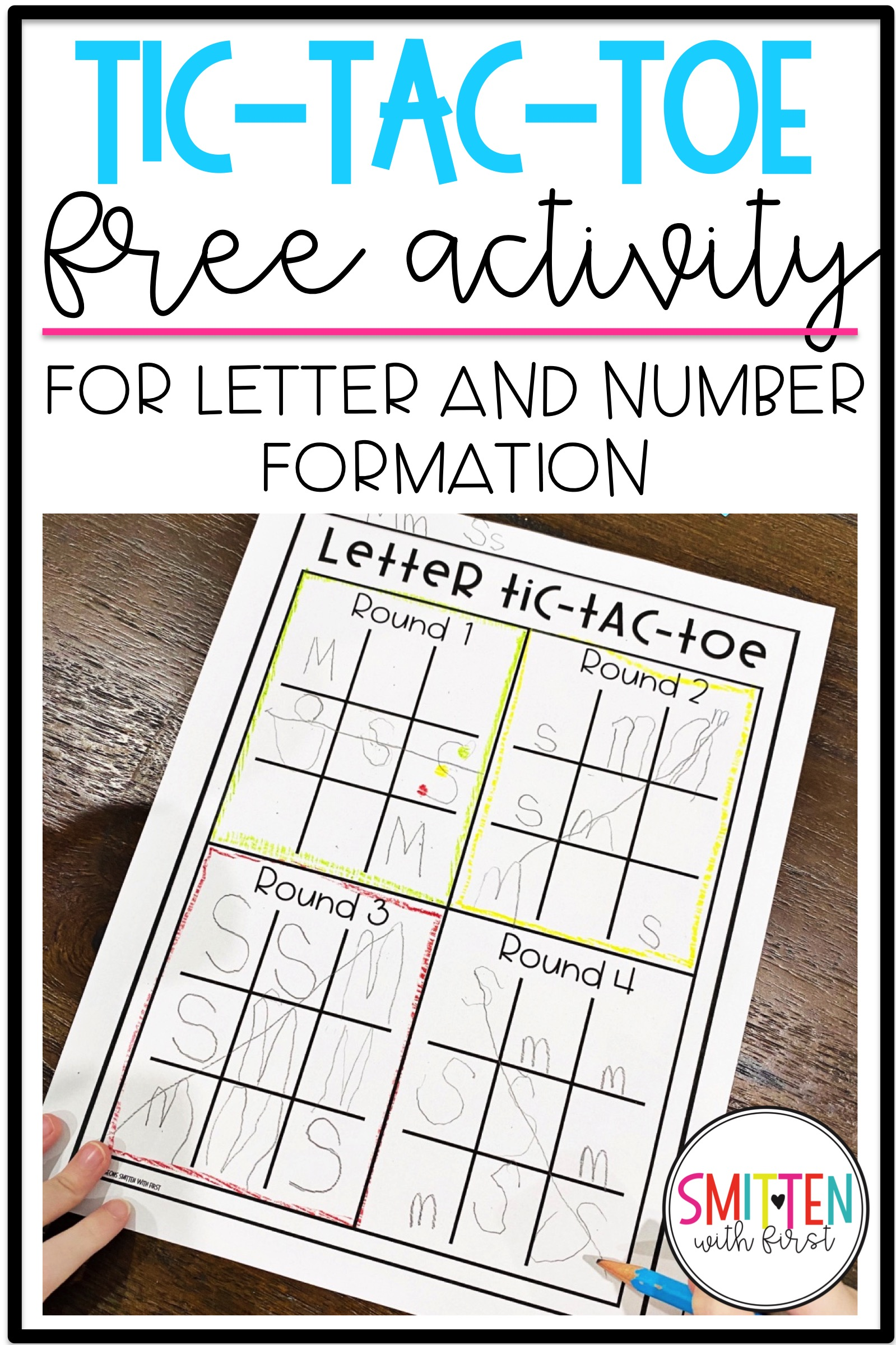 FREE Letter and Number Formation activity